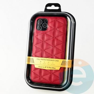 Накладка Kajsa для Apple IPhone 11 Pro Max стеганная красная - фото 34171