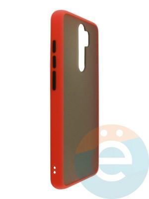 Накладка пластиковая матовая с силиконовой окантовкой для Xiaomi Redmi Note 8 Pro красная - фото 35105
