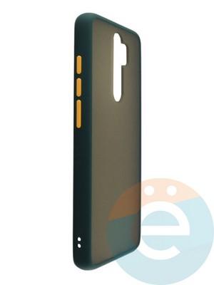 Накладка пластиковая матовая с силиконовой окантовкой для Xiaomi Redmi Note 8 Pro зелёная - фото 35106