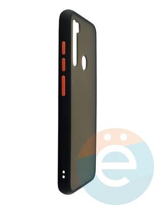 Накладка пластиковая матовая с силиконовой окантовкой для Xiaomi Redmi Note 8 чёрная - фото 35107