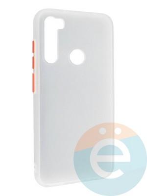 Накладка пластиковая с силиконовой окантовкой для Xiaomi Redmi Note 8 белая - фото 35108
