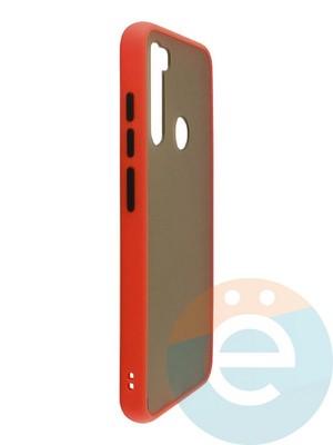 Накладка пластиковая матовая с силиконовой окантовкой для Xiaomi Redmi Note 8 синяя - фото 35109