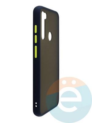 Накладка пластиковая с силиконовой окантовкой для Xiaomi Redmi Note 8 красная - фото 35110