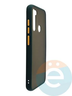 Накладка пластиковая с силиконовой окантовкой для Xiaomi Redmi Note 8 зелёная - фото 35111