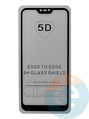 Защитное стекло 5D с полной проклейкой на Xiaomi Mi A2 Lite/6 Pro черное - фото 35469