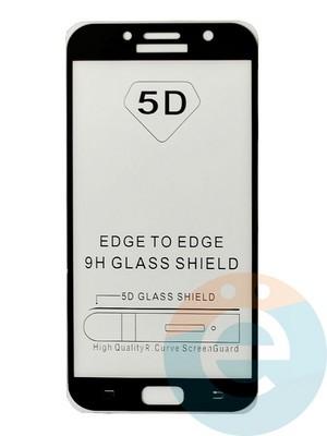 Защитное стекло 5D с полной проклейкой на Samsung Galaxy A7 2017 черное - фото 35474