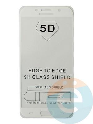Защитное стекло 5D с полной проклейкой на Samsung Galaxy A7 2017 белое - фото 35475
