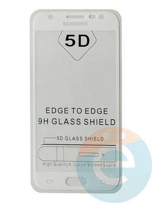 Защитное стекло 5D с полной проклейкой на Samsung Galaxy J3 2017 белое - фото 35477
