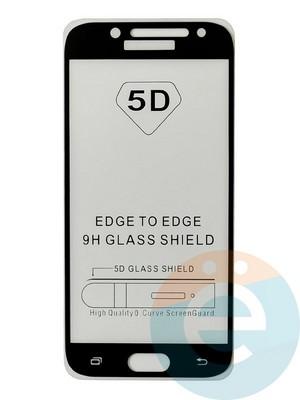 Защитное стекло 5D с полной проклейкой на Samsung Galaxy J5 2017 черное - фото 35478