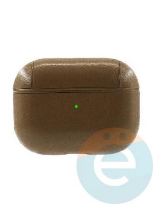 Чехол кожаный для наушников Apple AirPods Pro темно-коричневый - фото 35958
