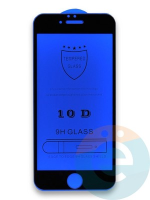 Защитное стекло 10D с полной проклейкой на Apple iPhone 6/6s чёрное - фото 35978