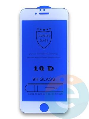Защитное стекло 10D с полной проклейкой на Apple iPhone 6/6s белое - фото 35979