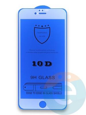 Защитное стекло 10D с полной проклейкой на Apple iPhone 6 Plus/6s Plus белое - фото 35981