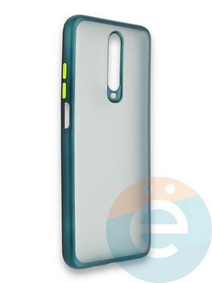 Накладка силиконовая матовая с перламутровой окантовкой для Xiaomi Redmi K30/K30 Pro зеленая - фото 36869
