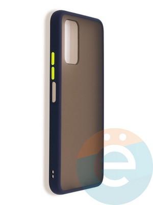 Накладка пластиковая матовая с силиконовой окантовкой для Huawei Honor 30s синяя - фото 37381