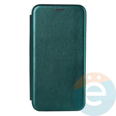 Чехол книжка боковой Fashion Case для Xiaomi Redmi Note 9S/9 Pro зеленый - фото 38006