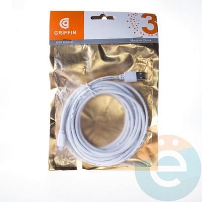 USB кабель Griffin на Micro-USB 3м белый - фото 4612