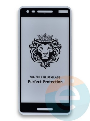 Защитное стекло 5D с полной проклейкой на Nokia 2.1 черное - фото 39655