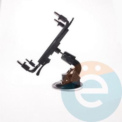 Держатель автомобильный для планшетов на металлическом шарнире PZ-003 чёрный - фото 4632