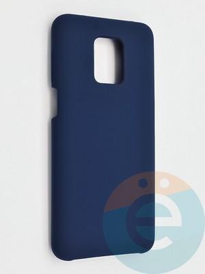 Накладка силиконовая Silicone Cover (без логотипа) для Xiaomi Redmi Note 9 Pro/9S синяя - фото 42124