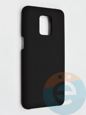 Накладка силиконовая Silicone Cover (без логотипа) для Xiaomi Redmi Note 9 Pro/9S черная - фото 42126