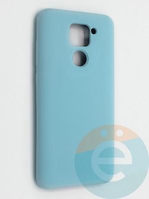 Накладка силиконовая Silicone Cover (без логотипа) для Xiaomi Redmi Note 9 бирюзовая - фото 42128