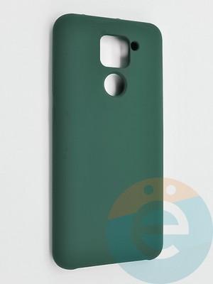 Накладка силиконовая Silicone Cover (без логотипа) для Xiaomi Redmi Note 9 зеленая - фото 42129