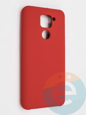 Накладка силиконовая Silicone Cover (без логотипа) для Xiaomi Redmi Note 9 красная - фото 42130