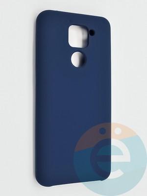 Накладка силиконовая Silicone Cover (без логотипа) для Xiaomi Redmi Note 9 синяя - фото 42132