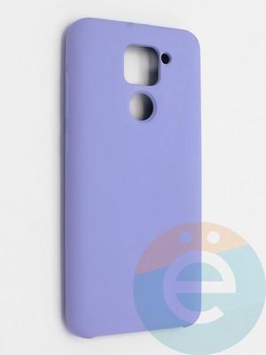 Накладка силиконовая Silicone Cover (без логотипа) для Xiaomi Redmi Note 9 сиреневая - фото 42133