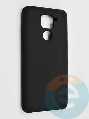 Накладка силиконовая Silicone Cover (без логотипа) для Xiaomi Redmi Note 9 черная - фото 42134