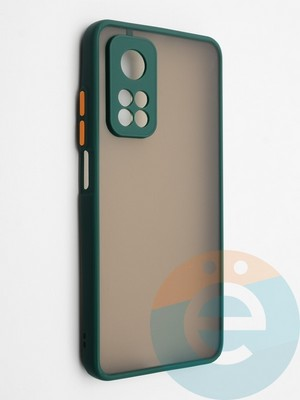 Накладка пластиковая с силиконовой окантовкой с защищенной камерой для Xiaomi Mi 10T зеленая - фото 42317