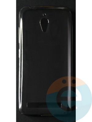 Накладка силиконовая ультратонкая на Asus Zenfone GO (ZC500TG) тёмно-прозрачная - фото 42787