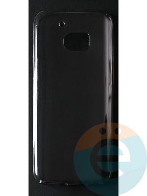 Накладка силиконовая ультратонкая на HTC M10 тёмно-прозрачная - фото 42790