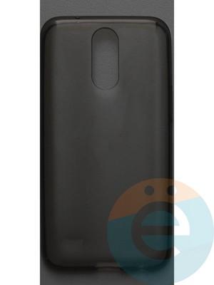 Накладка силиконовая ультратонкая на LG K10 2017 тёмно-прозрачная - фото 42791
