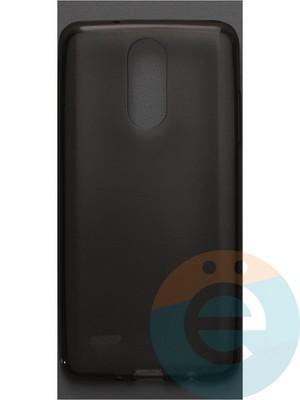 Накладка силиконовая ультратонкая на LG K8 2017 тёмно-прозрачная - фото 42793