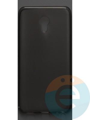 Накладка силиконовая ультратонкая на Meizu M5 тёмно-прозрачная - фото 42796
