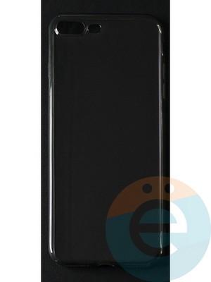 Накладка силиконовая ультратонкая на Apple iPhone 7 Plus/8 Plus тёмно-прозрачная - фото 42799