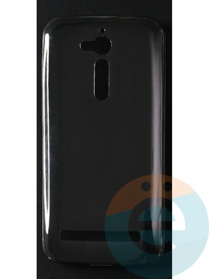 Накладка силиконовая ультратонкая на Asus Zenfone GO (ZB500KL) тёмно-прозрачная - фото 42803