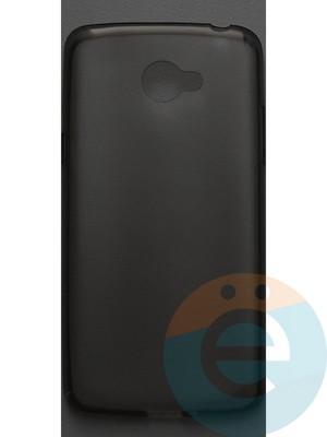 Накладка силиконовая ультратонкая на LG K5 тёмно-прозрачная - фото 42810