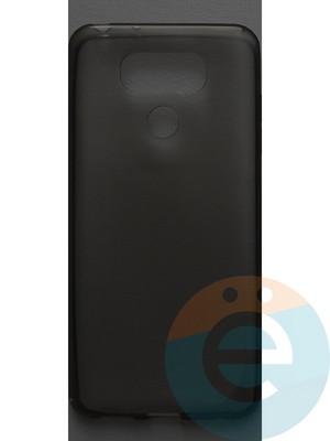 Накладка силиконовая ультратонкая на LG G6 тёмно-прозрачная - фото 42811