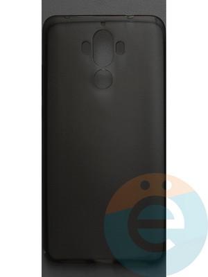 Накладка силиконовая ультратонкая на Huawei Mate 9 тёмно-прозрачная - фото 42813