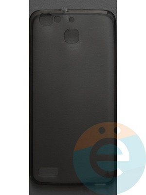 Накладка силиконовая ультратонкая на Huawei G8 mini тёмно-прозрачная - фото 42814