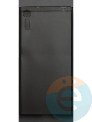 Накладка силиконовая ультратонкая на Sony XR тёмно-прозрачная - фото 42815