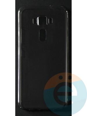 Накладка силиконовая ультратонкая на Asus ZenFone 3 (5.2) тёмно-прозрачная - фото 42822