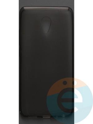 Накладка силиконовая ультратонкая на Meizu E тёмно-прозрачная - фото 42826