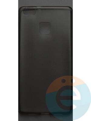 Накладка силиконовая ультратонкая на Huawei P9 Lite тёмно-прозрачная - фото 42827