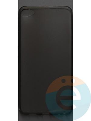 Накладка силиконовая ультратонкая на Meizu U20 тёмно-прозрачная - фото 42832