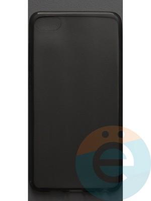 Накладка силиконовая ультратонкая на Meizu U10 тёмно-прозрачная - фото 42834