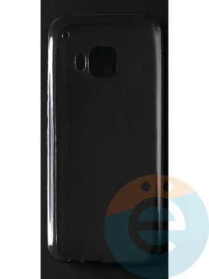 Накладка силиконовая ультратонкая на HTC M9 тёмно-прозрачная - фото 42853